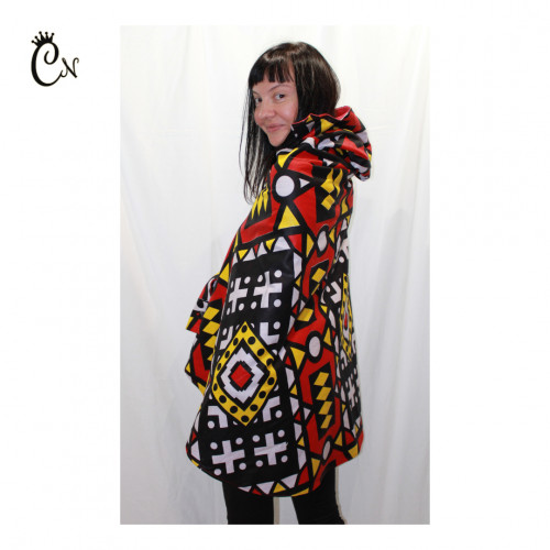 Red and Yellow Poncho