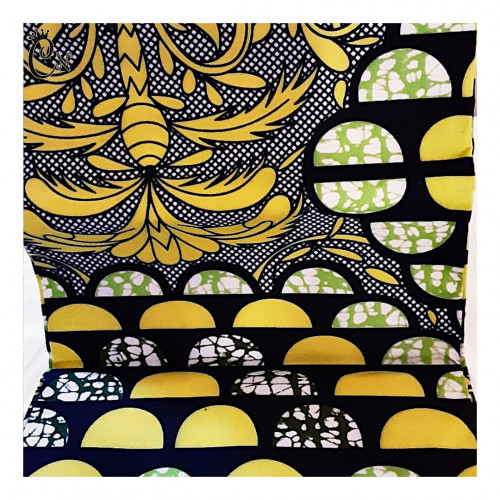 African Fabric Yellow Scales