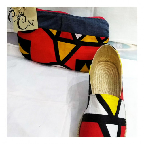 Red and Yellow Set with Denim
