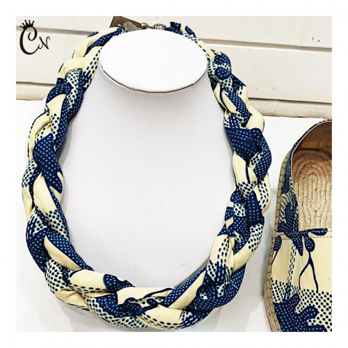 Intertwined Blue and White Necklace