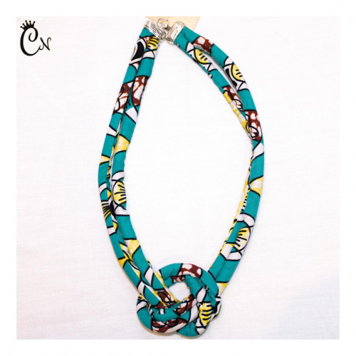 Blue Necklace with Knot