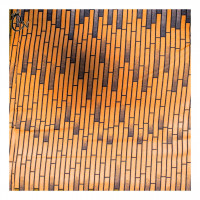 Brown African Fabric with Stripes