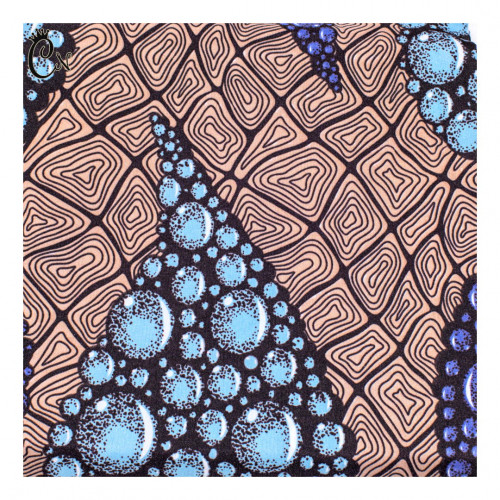 Blue Leaves African Fabric