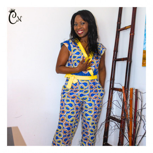 Blue and Yellow Overall
