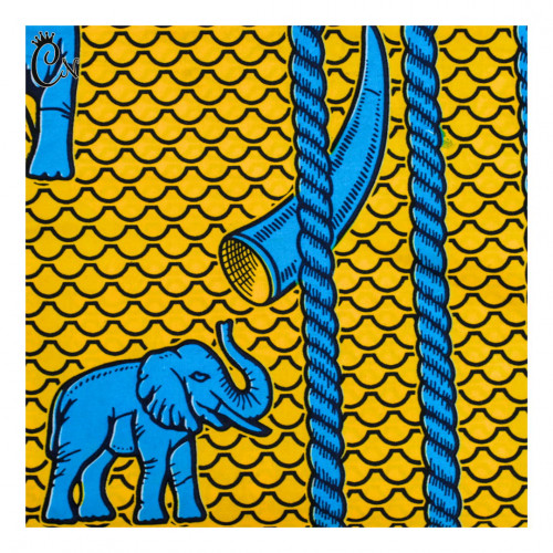 African Fabric with an Elephant