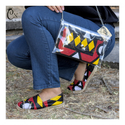Red and Yellow Purse with Belt