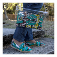 Green and Yellow Purse with Belt